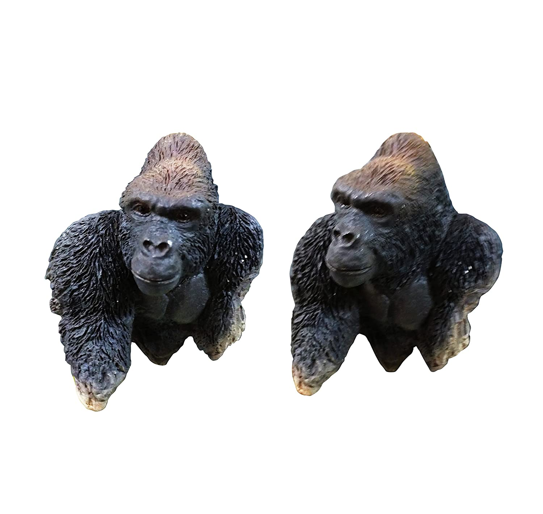Top 2 Piece Gorilla Safari Jungle Animal Fridge Magnet Set Unique Cute Popular Clever Dorm Home Kitchen Decor 2018 Present Idea for Teacher Kid Children Cousin Mom Dad Teen Boy Girl Aunt Uncle