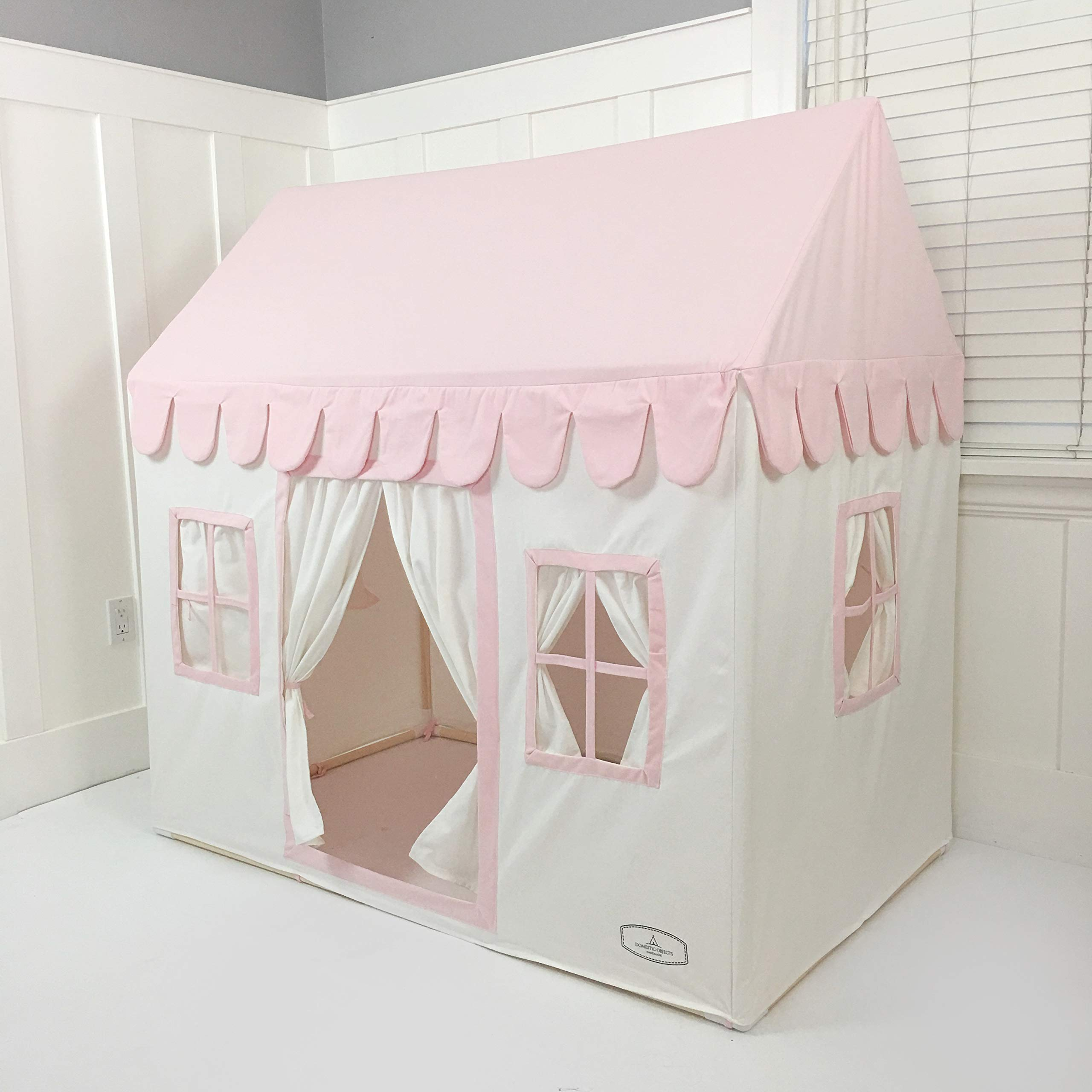 Domestic Objects Children's Playhouse. Handmade with 100% Cotton Premium Quality. Pink