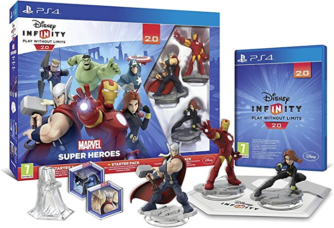 Disney Infinity 2.0 Marvel Superheroes Starter Pack (PS4) by ...