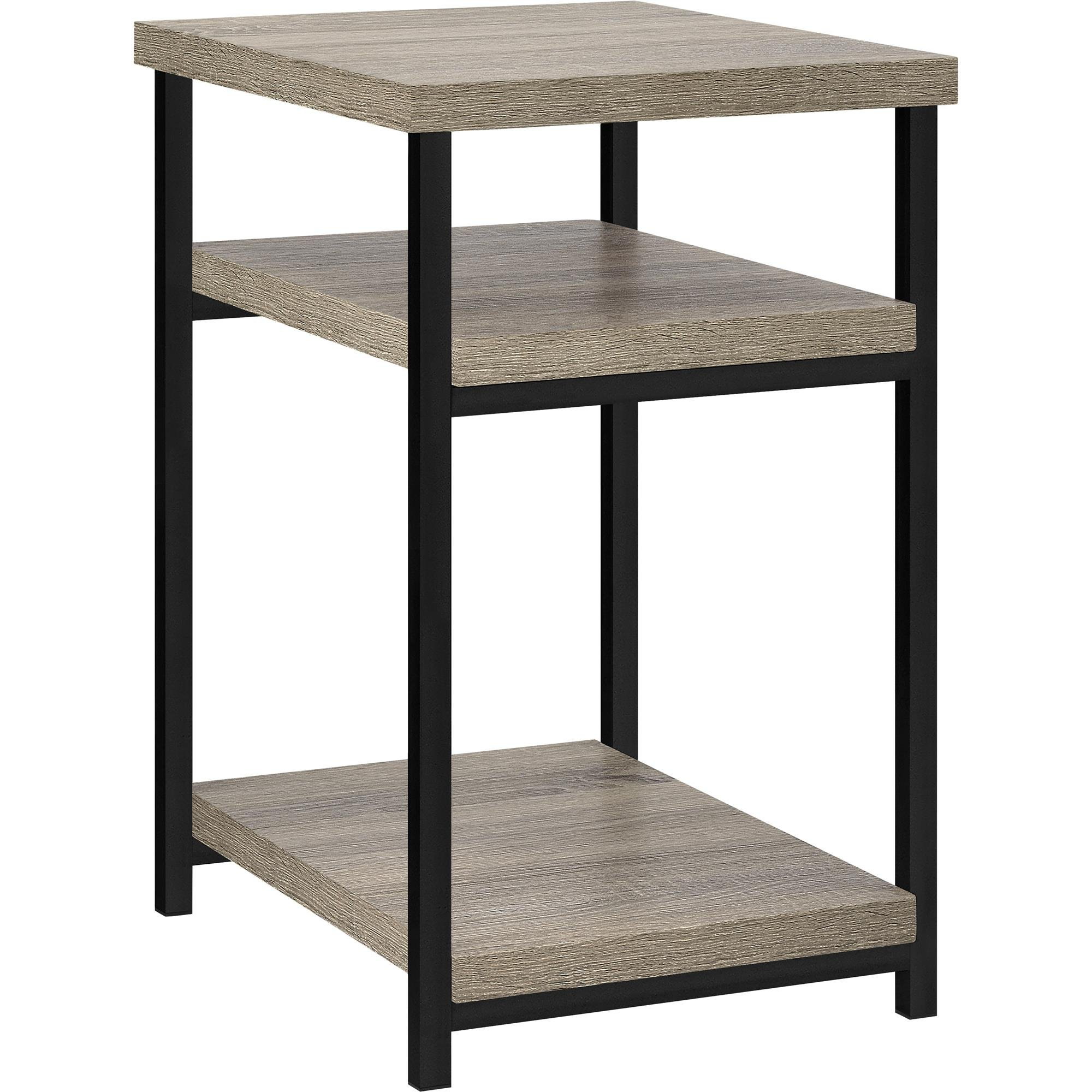 Ameriwood Home Elmwood End Table, Weathered Oak