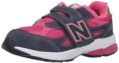 new balance kids velcro. new balance kv990p running shoe (little kid), pink/grey, 1 xw kids velcro v