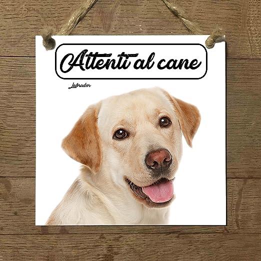 LABRADOR MOD 4 Atención al perro placa baldosa cartel ...