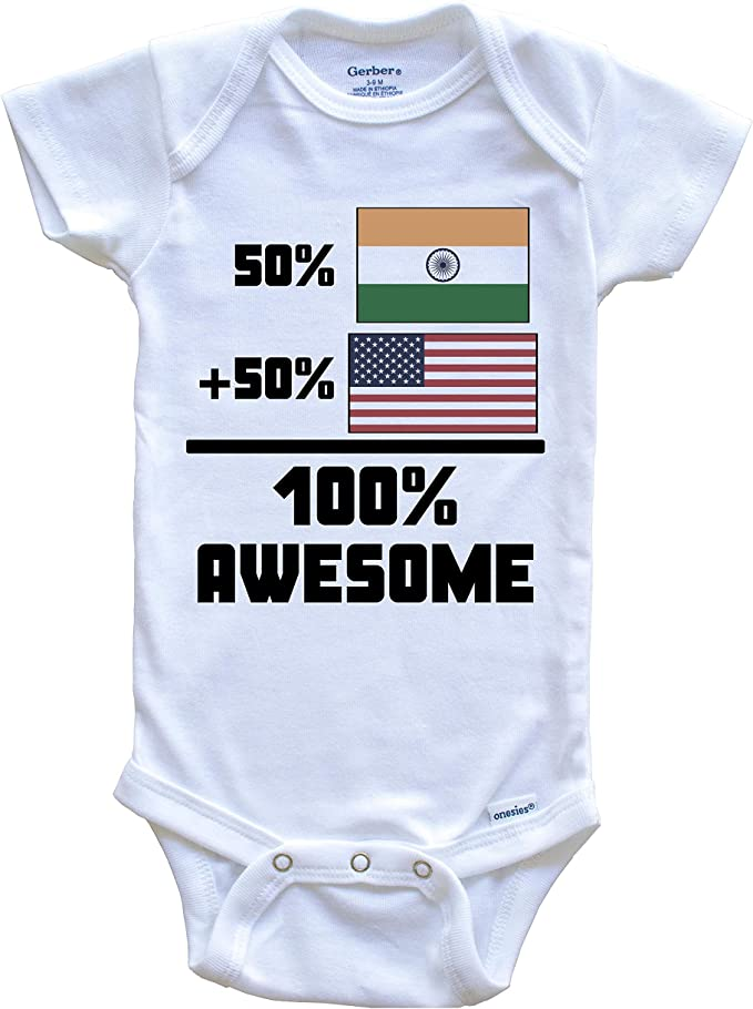 Cute Thailand Flag Baby Bodysuit Thailand Onesie 50 Percent Thai 50 Percent American 100/% Awesome Funny Flag Baby Onesie