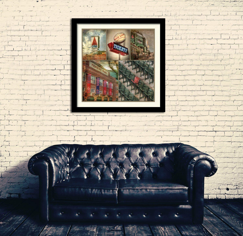 Fenway Park Photo Collage, Boston Red Sox Print, Fenway Park Canvas, Boston Sports Wall Decor