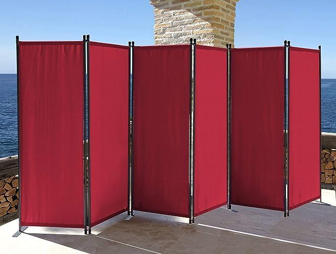 QUICK STAR Paravent 340 x 165 cm Tejido Divisor de habitación ...
