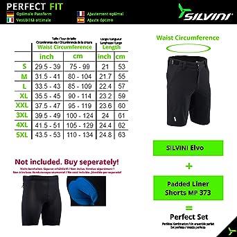 SILVINI Herren Elvo MTB Kurze Hose mit 2 Seiten und 2 Hinten Rei/ßverschlusstaschen