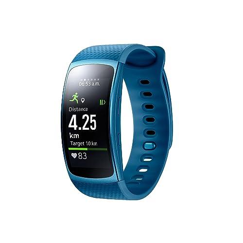 Samsung Gear Fit II Smartwatch de 1 5 con frecuencia cardíaca y notificaciones L Color Azul Versión Extranjera