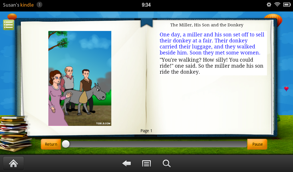 The miller his son and the donkey appstore for Fish head app
