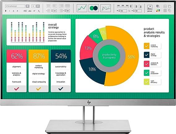 HP EliteDisplay E223 - Monitor de 21.5 pulgadas ajustable en altura (FHD antireflejo, 1920 x 1080 a 60 Hz, IPS LED, 250cd/m, 5ms, 16:9, 1 x VGA, 1 x HDMI 1.4, 1 x DisplayPort 1.2, 2 x USB 3.0): Hp: Amazon.es: Informática