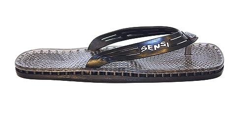 b39c271b1abf0d Sensi Shower Spa Pool Beach Sandal Waterproof Monte Carlo Flip Flops Black  Vapor (US size