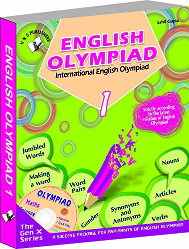 International English Olympiad - Class 1  with CD: Essential Principles with Examples; Mcqs and Solutions; Model Test Papers