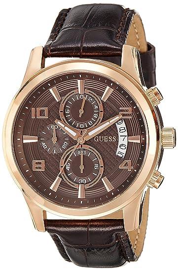 comprar baratas de calidad superior en venta Guess W0076G4 - Reloj de Cuarzo para Hombre, con Correa de Cuero, Color  marrón