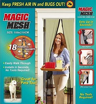 Magic Mesh Rideau Magnétique Anti Moustiques Moustiquaire 210 x 100 ...
