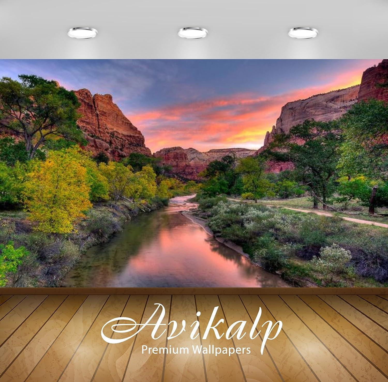 Avikalp Awi3193 Virgin River Sunset Over Zion National Park