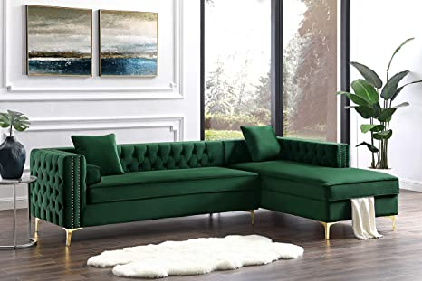 Inspired Home Green Chaise Sectional Sofa - Design: Giovanni | 115"|466|311|?|da3dd096b99830b51b90c168f675eeb0|False|UNLIKELY|0.38246822357177734
