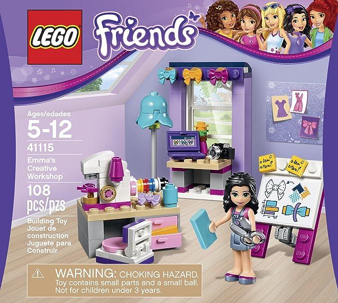 Amazon Com Lego Friends Emma S Creative Workshop 41115 Toys Games