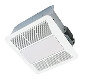 KAZE APPLIANCE SE110L2 Ultra Quiet Bathroom Exhaust Fan with LED Light and Night Light, 110 CFM, 0.9 Sones