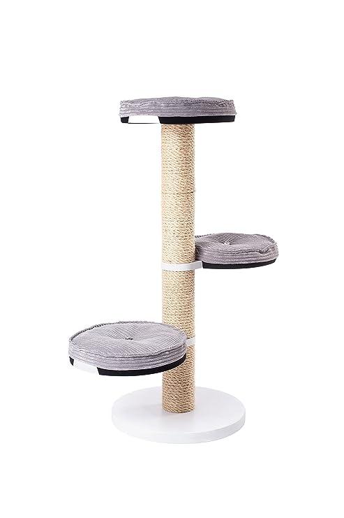 Árbol para gatos, rascador poste – sólido, estable, pesado, madera, muebles