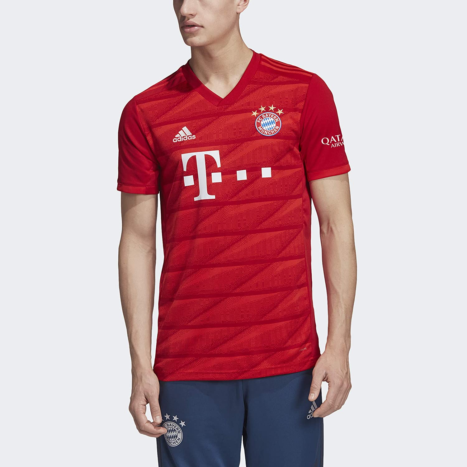 Amazon Com Adidas Fc Bayern Munich Adult Home Replica Jersey Dw7410 Clothing
