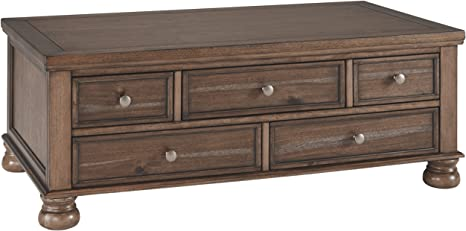 Ashley Furniture Signature Design Flynnter Casual Cocktail Table