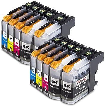 10x Compatible Cartucho de tinta Brother LC123XL Alta capacidad ...