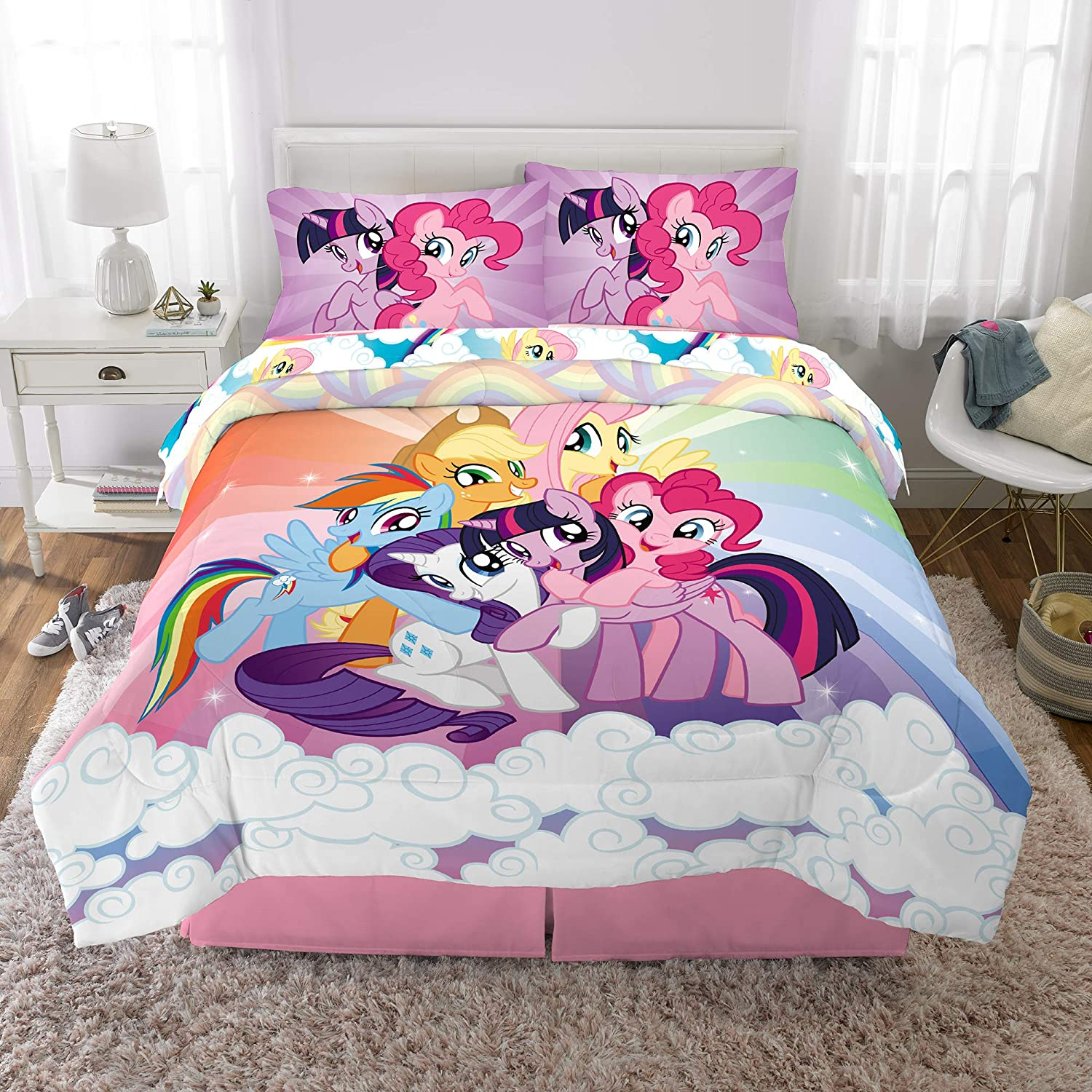 Franco Kids Bedding Super Soft Comforter and Sheet Set, 5 Piece Full Size, My Little Pony