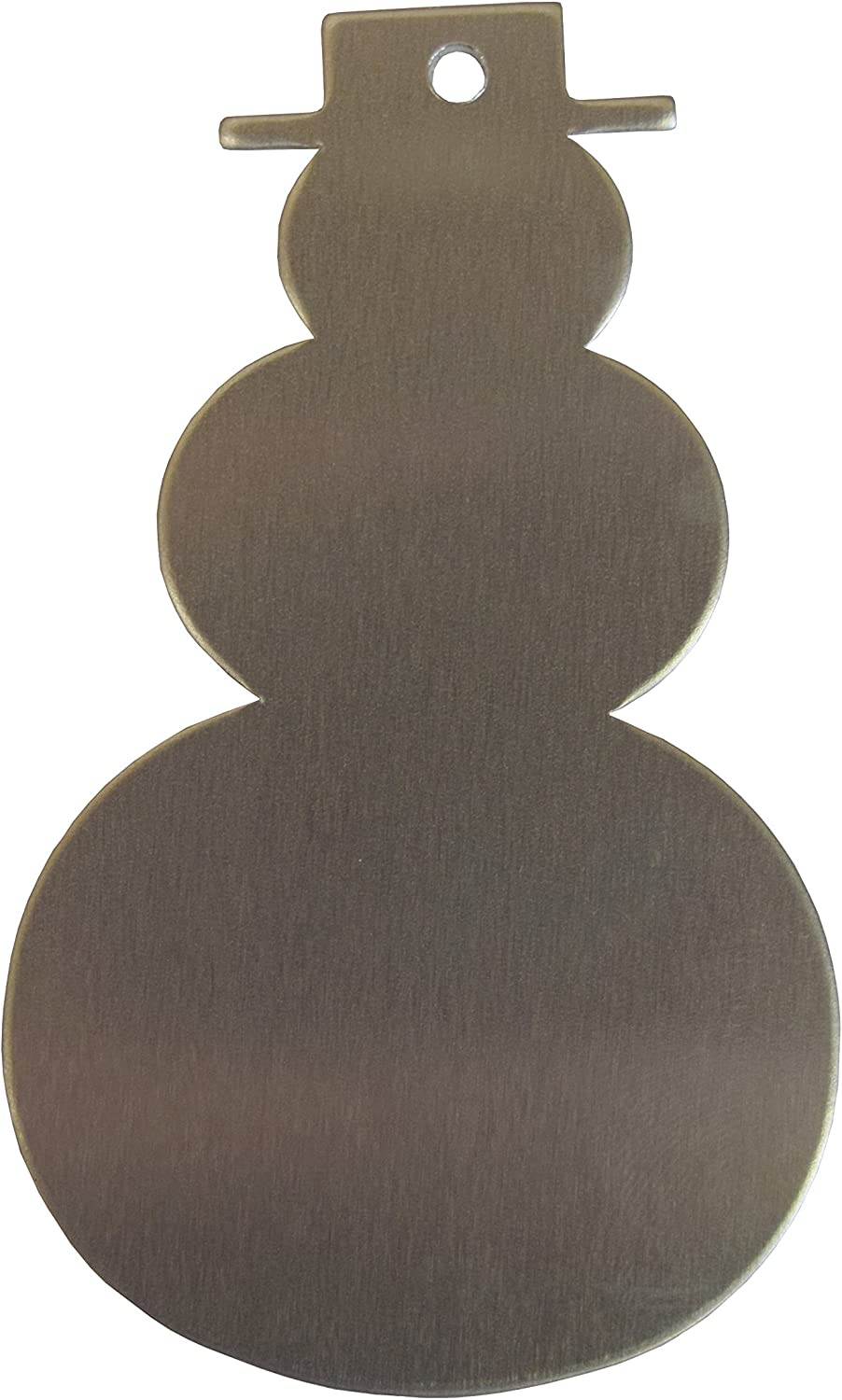 Aluminum 0.063 Inch 14 Ga. - 10 Pack 3-1//4 Inch Snowman with Hole RMP Stamping Blanks