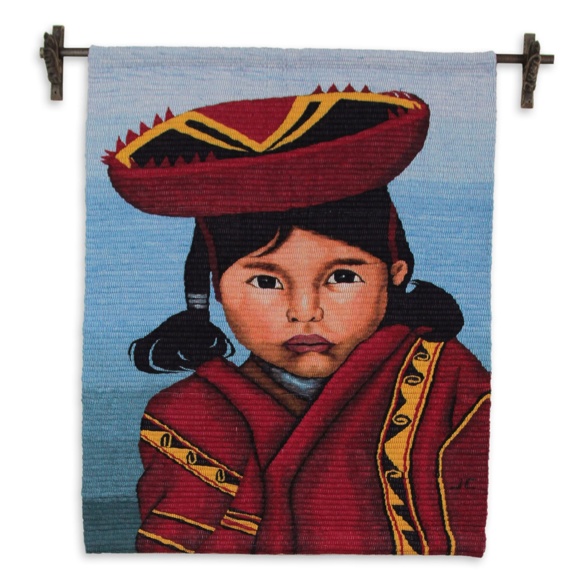NOVICA ''Girl From Cuzco'' Wool Tapestry