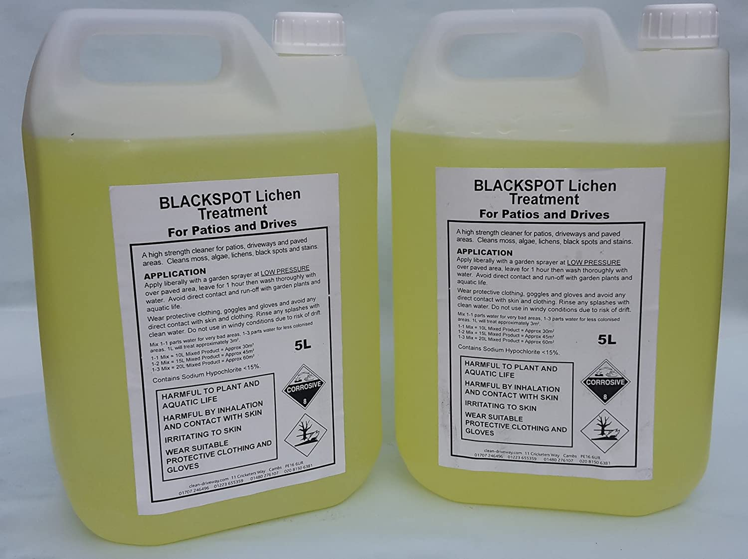 Black Spot Lichen Remover, Twin Pack, Sandstone Cleaner, Block Cleaner, Patio  Cleaner