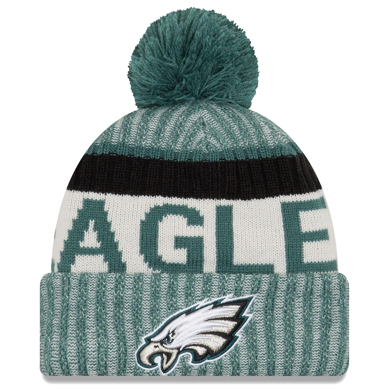 Amazon.com  New Era Philadelphia Eagles 2017 On-Field Sport Knit Beanie Hat  Cap Green  Sports   Outdoors 6cc59a506