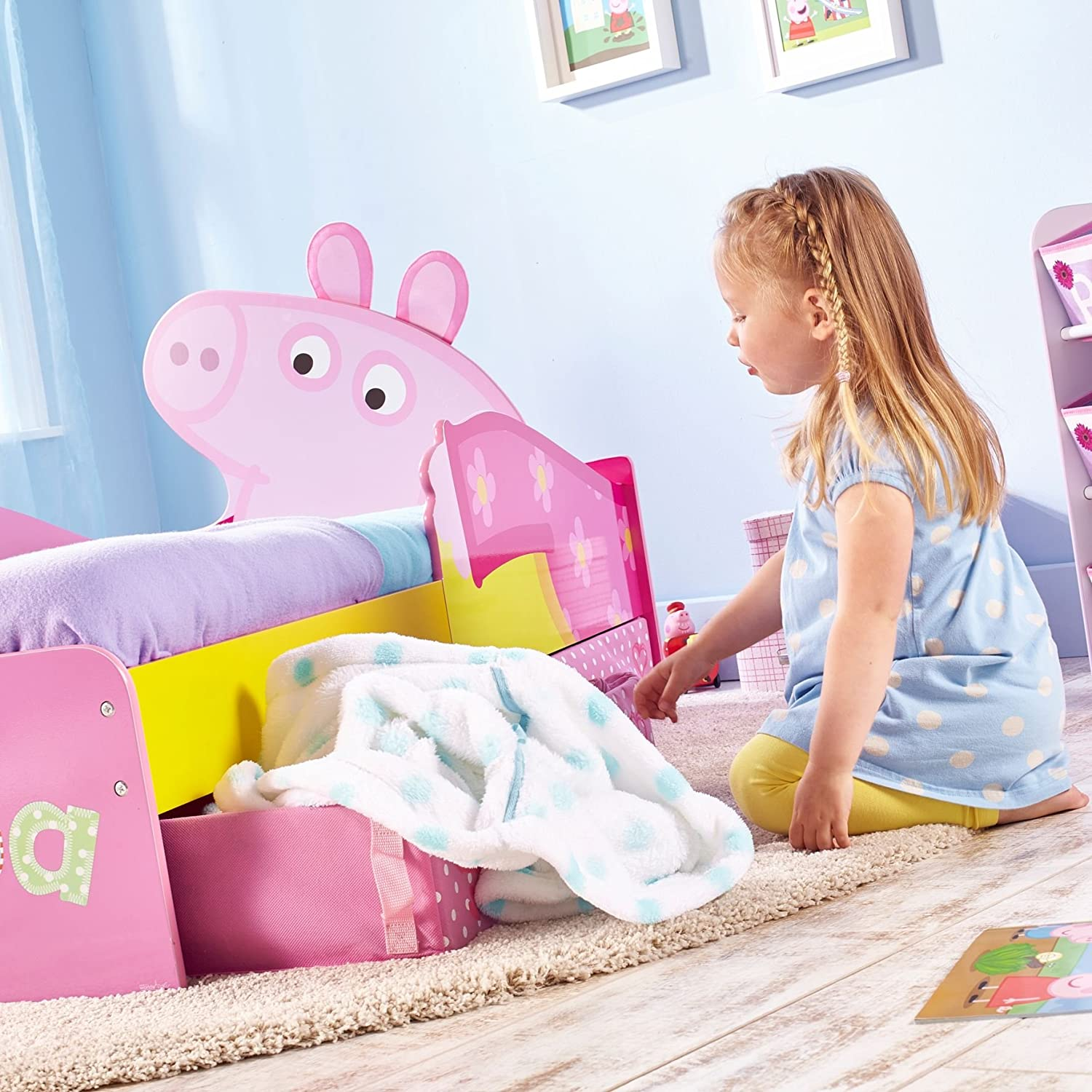 Peppa Pig Bedroom Furniture Peppa Pig Kids Toddler Bed With Underbed Storage By Hellohome