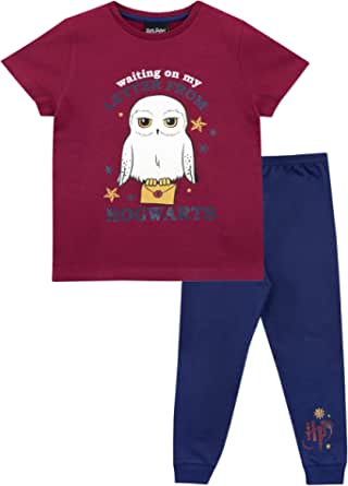 HARRY POTTER Pijamas de Manga Corta para niñas Hedwig