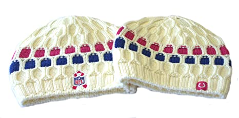 7fbbba6ef Image Unavailable. Image not available for. Color  Reebok NFL Licensed  Indianapolis Colts Breast Cancer Awareness Cable Knit Beanie ...