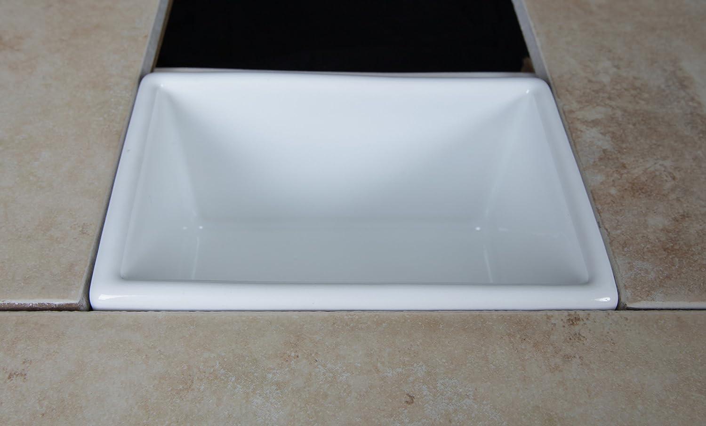 CleanLine Soap Foot Rest Recessed Shower Shelf Niche Tile - - Amazon.com