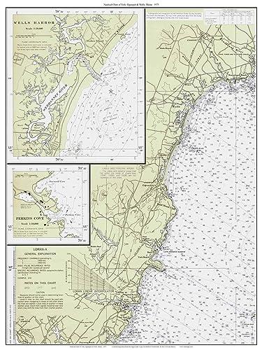 Amazon Com York Ogunquit Wells 1975 Old Map Nautical Chart