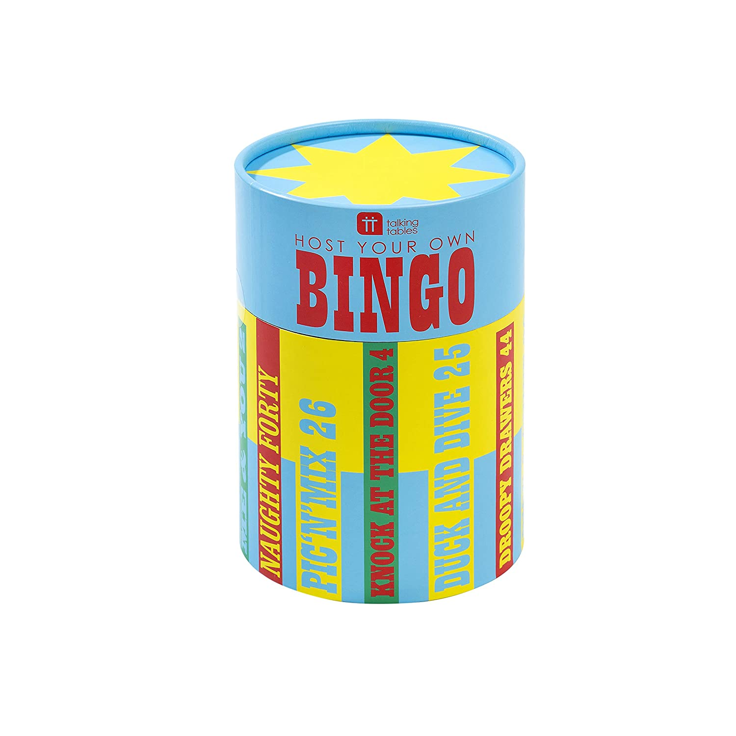 Talking Tables Host Your OWN Bingo, Paper, Multi, 0.12 x 0.12 x 0.17 cm HOST-BINGO