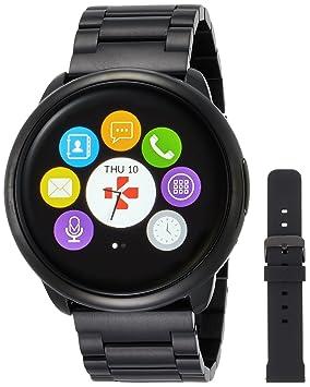 MyKronoz ZeRound - Reloj Inteligente/Pulsera de Fitness, Unisex, Smartwatch Fitnesstracker ZeRound Premium mit Metallarmband, Schwarz ...