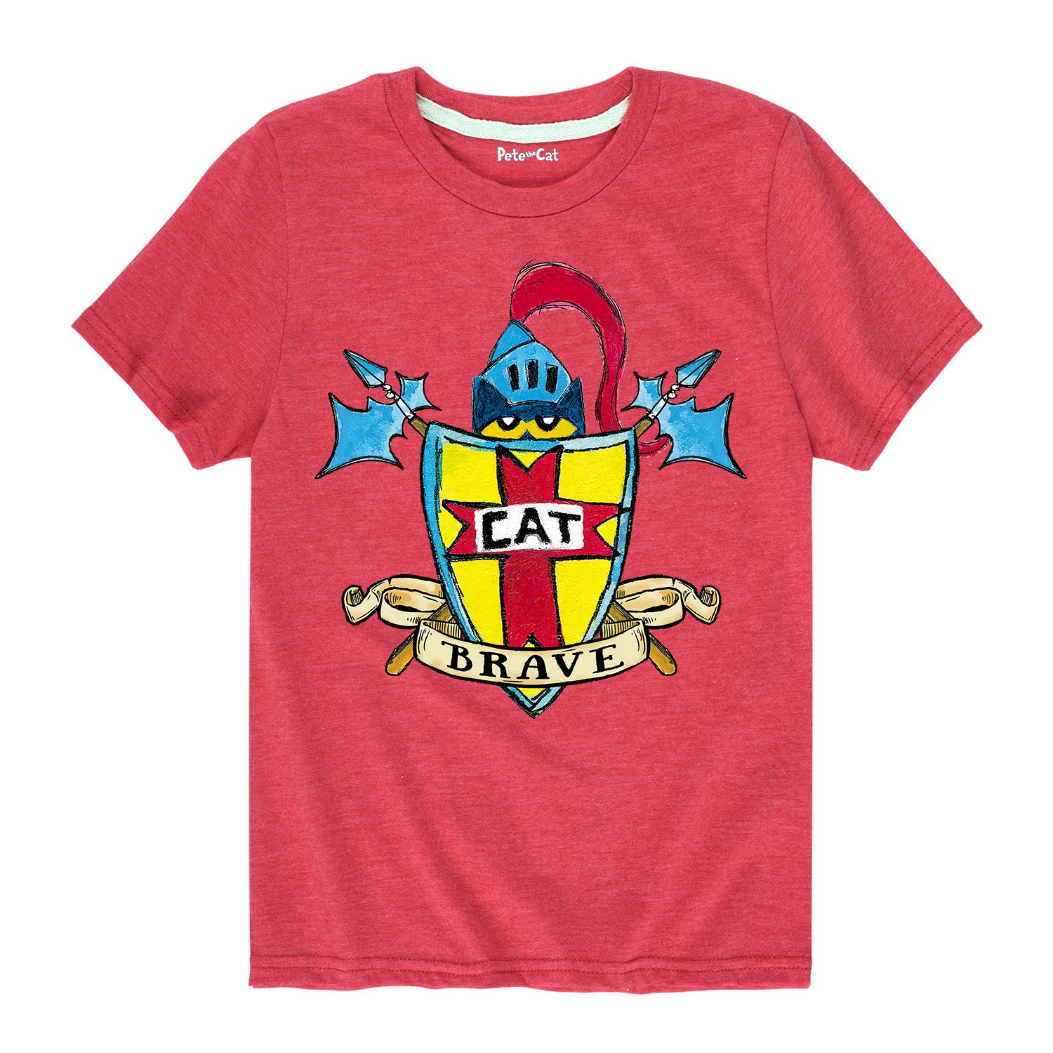 Pete the Cat Brave Shield Toddler Short Sleeve Tee