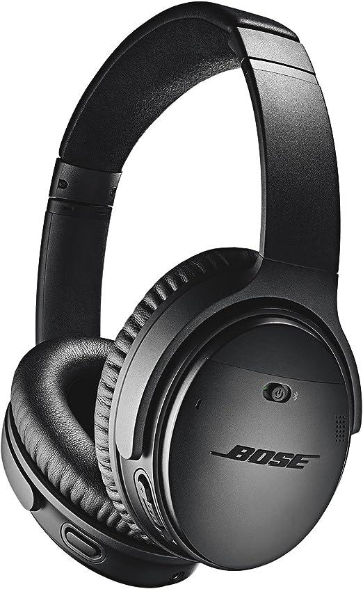 Bose QuietComfort 35 II - Auriculares inalámbricos (Bluetooth, cancelación de ruido) con Alexa integrada, Negro: Amazon.es: Electrónica