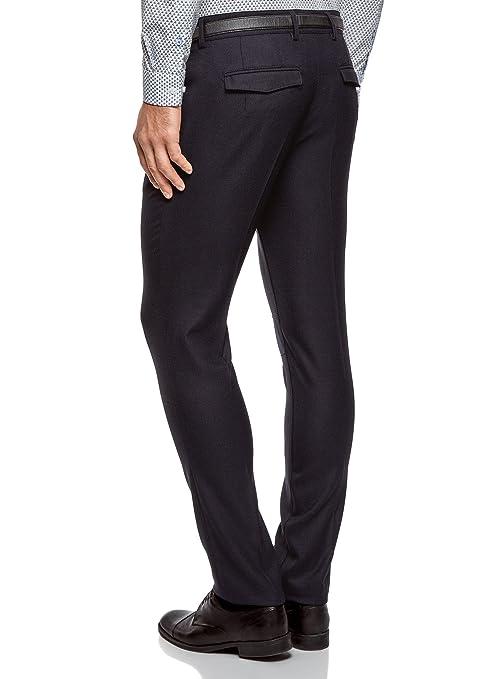 oodji Ultra Hombre Pantalones Clásicos Slim Fit: Amazon.es: Ropa y ...