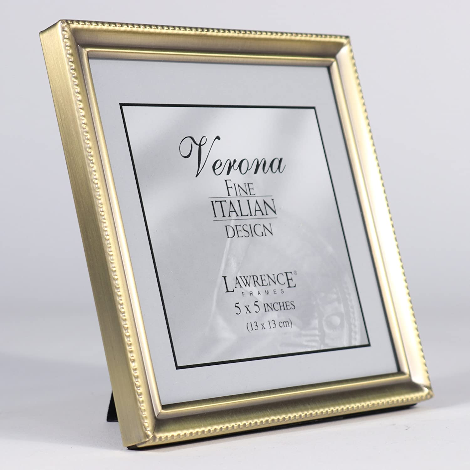 Amazon.com - Lawrence Frames Antique Brass 5x5 Picture Frame - Bead ...