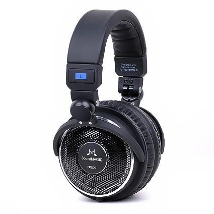 2f8456f3692 Amazon.com: SoundMAGIC HP200 Premium Full Size Open-Back Folding Headphones  (Black): Electronics