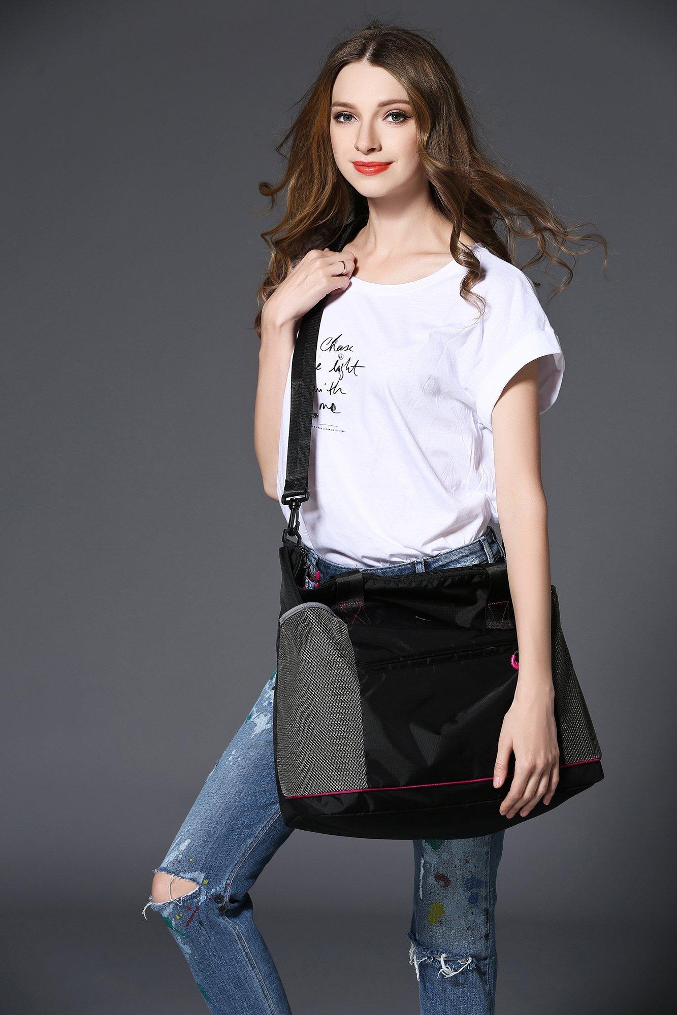 Gym Bag- Yoga Bag- Gym Yoga Tote Bag for Women with Roomy Pockets