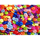 100 x 9mm, 11mm or 15mm Buttons - 11 Colours + Assorted Mix (9mm, Mixed)