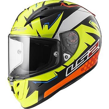 LS2 Casco Moto FF323 Arrow R EVO Volt, Negro/Amarillo/Naranja, ...