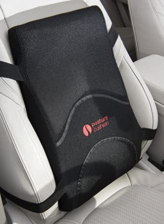 Posture Cushion Full Length Lumbar Support Cushion With High Density Foam And Super Hold Strapping Ideal For Car Home Office