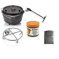 Petromax Set Dutch Oven Gusseisen klein schwarz Garten Camping Picknick ✔ rund
