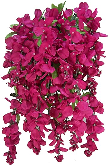 Amazon admired by nature gpb392 beauty artificial wisteria admired by nature gpb392 beauty artificial wisteria hanging flowers bush beauty mightylinksfo