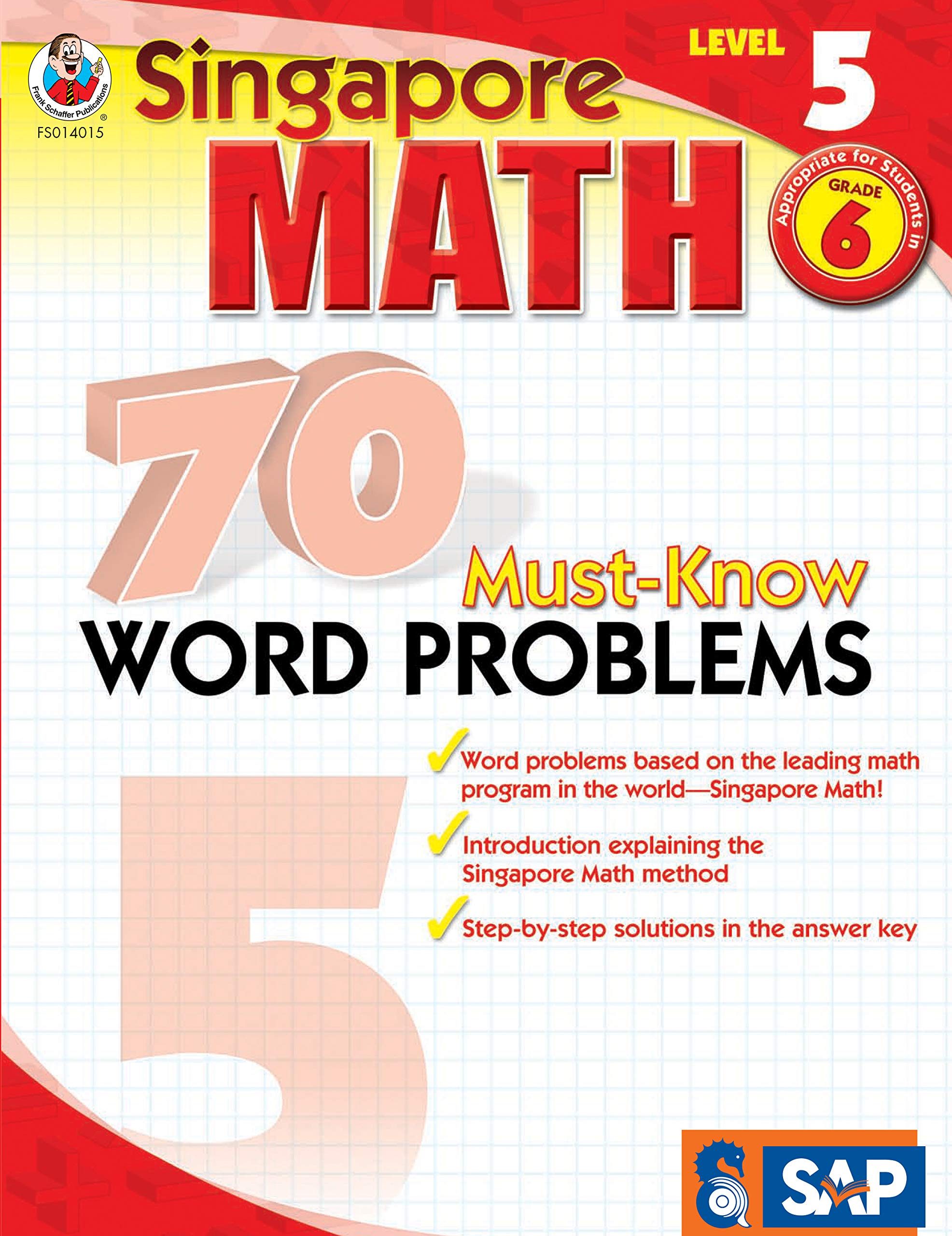 Singapore Math - 70 Must-Know Word Problems Workbook for 6th ...