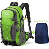 OUSPT Hiking Backpack,40L Multi-functional Outdoor Camping Trekking Rucksack Traveling Climbing Backpack Cycling Travel Climbing Mountaineer Outdoor Sport Daypack Bag with Rain Cover